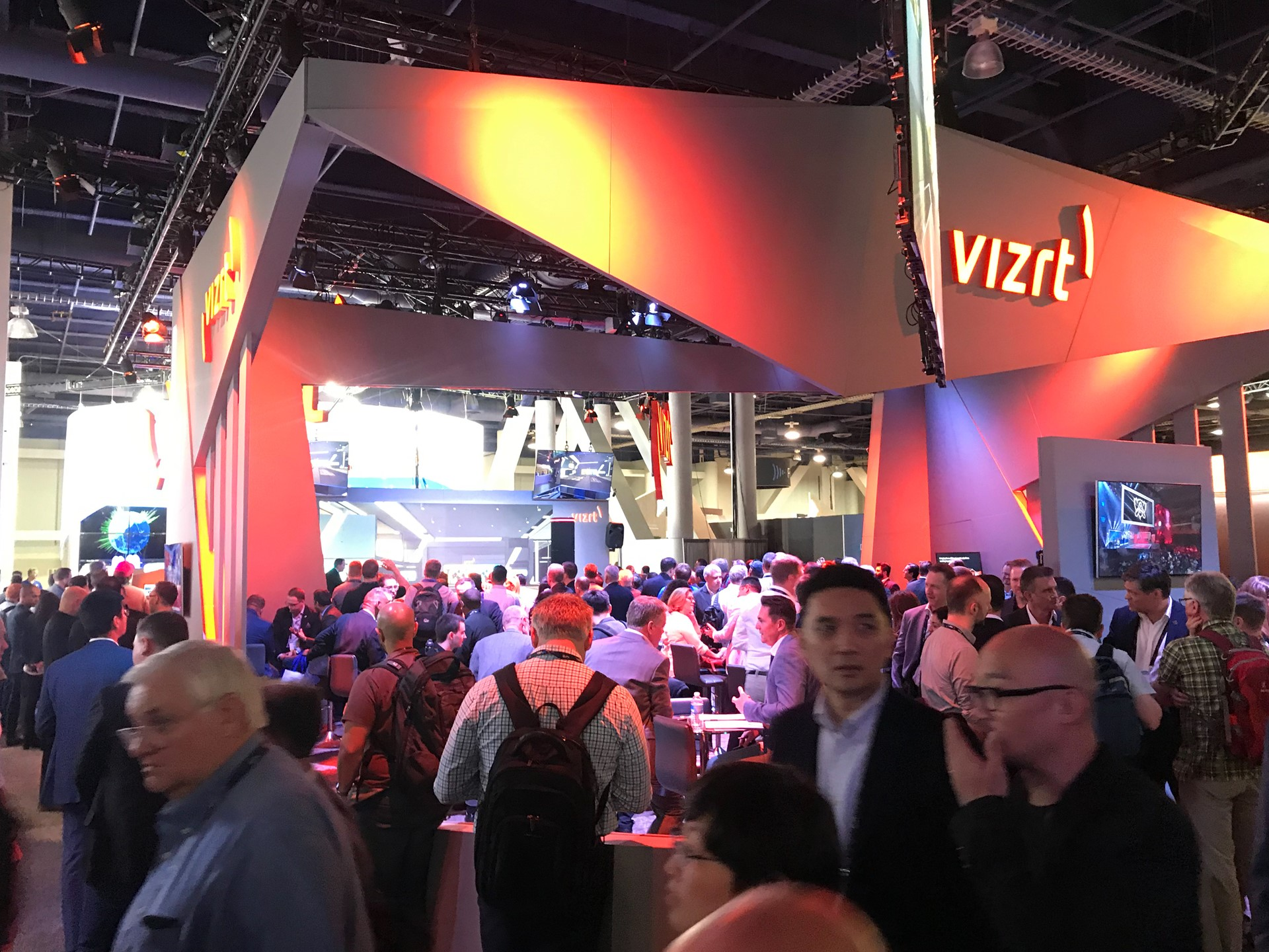 Vizrt-Chris dazzled crowd at NAB with a Ferrari - Media City Bergen